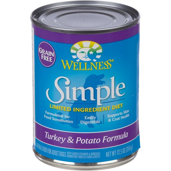 Wellness Grain-Free Simple Limited Ingredient Diet Turkey & Potato Formula Dog Food