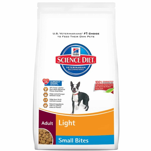 Hill's Science Diet Dog Food, Dry, Adult (1-6 Years), Light, Small Bites
