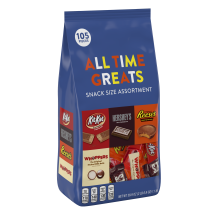 Hershey's All Time Greats Snack Size Assortment, 105 Pieces