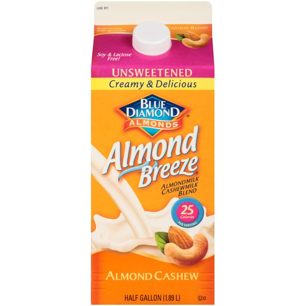 Almond Breeze Almond Cashew Unsweetened Almondmilk Cashewmilk Blend