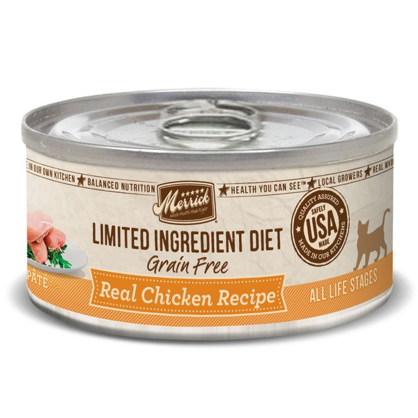 Merrick Limited Ingredient Diet Grain Free Real Chicken Recipe Cat Food