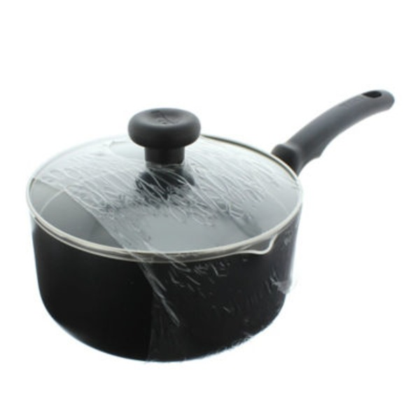 T-Fal 3 Qt Soft Handle Black Sauce Pan With Lid