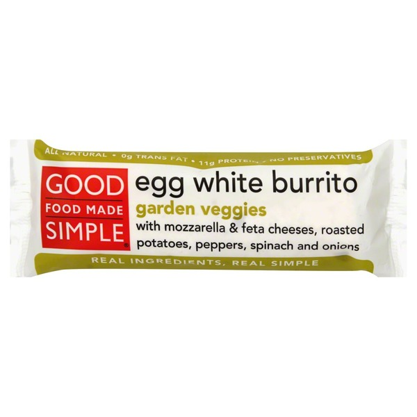 Good Food Made Simple Burrito, Egg White, Garden Veggies