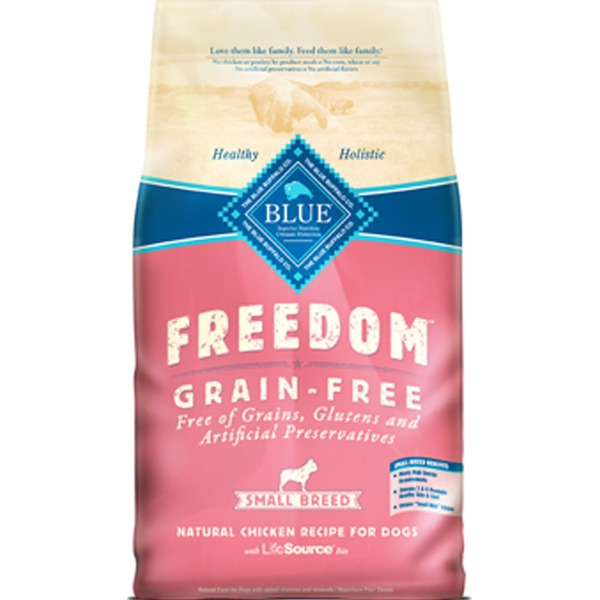 Blue Buffalo Food for Dogs, Natural, Grain-Free, Small Breed, Chicken Recipe