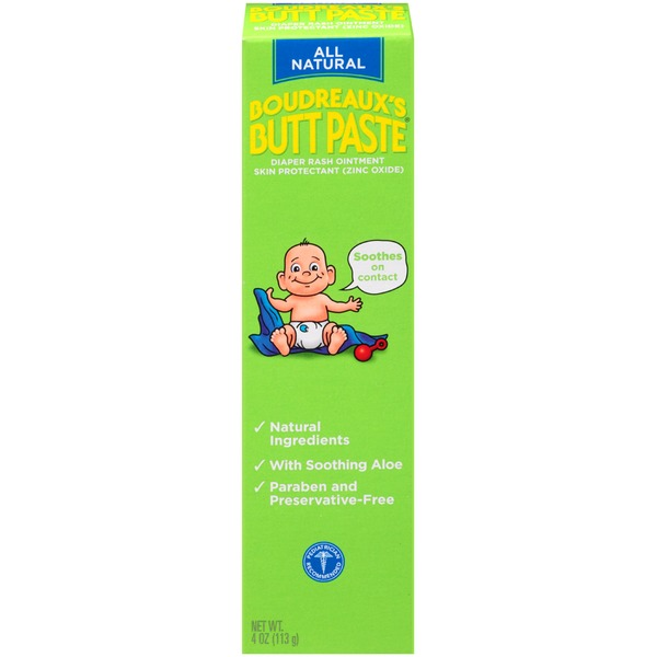 Boudreaux's Brand All Natural Butt Paste Diaper Rash Ointment