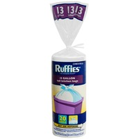 Ruffies 13 Gallon Tall Wing Tie Kitchen Bags