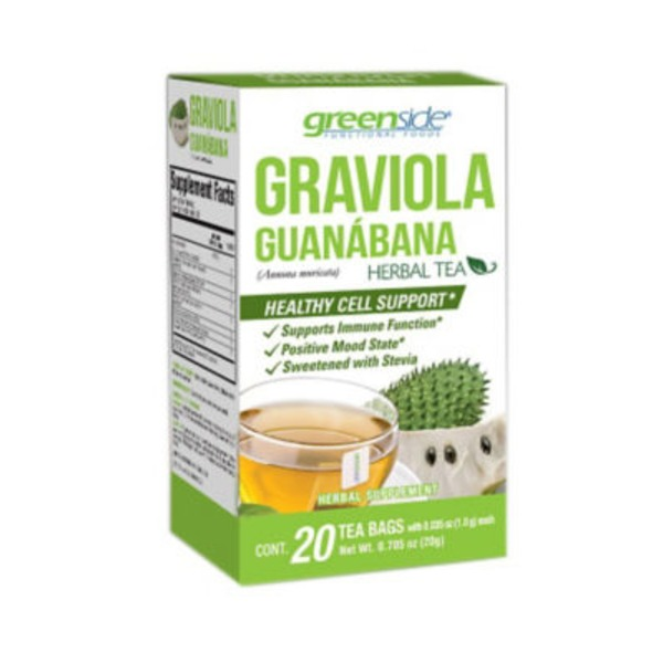 Green Side Graviola Herbal Tea Bags