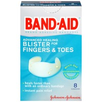 Band Aid® Brand Adhesive Bandages Advanced Healing Blister for Finger & Toes Super Premium