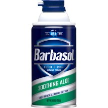 Barbasol Soothing Aloe Thick & Rich Shaving Cream for Men, 10 oz.
