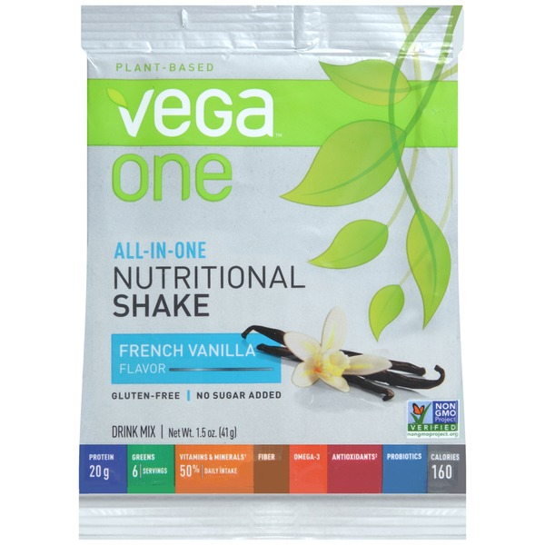 Vega One Plant-Based French Vanilla Flavor Nutritional Shake Drink Mix