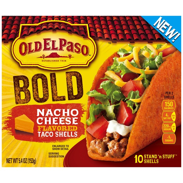 Old El Paso Stand 'n Stuff Bold Nacho Cheese Flavored Taco Shells