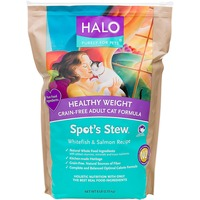 Halo Spot's Stew Healthy Weight Grain Free Whitefish & Salmon Cat Food 6 Lbs.