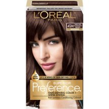 L'Oreal Paris Superior Preference Fade-Defying Color + Shine Hair Color 4SM Soft Mahogany Brown, 1 Kit