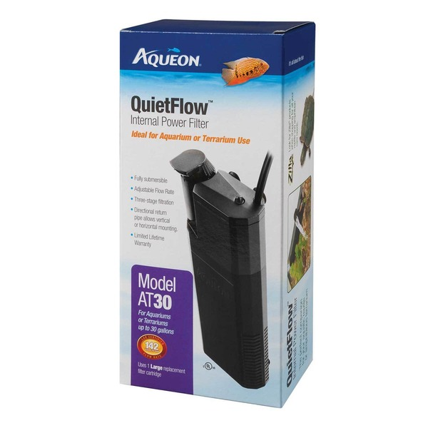 Aqueon Quiet Flow Internal Power Filter ModelAT30