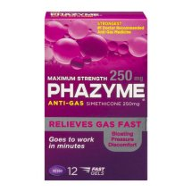 Phazyme Maximum Strength Softgel, 250mg, 12 Ct