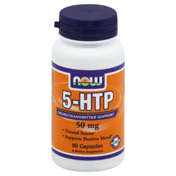 Now 5-HTP, Neurotransmitter Support, Positive Mood, Capsules, Bottle
