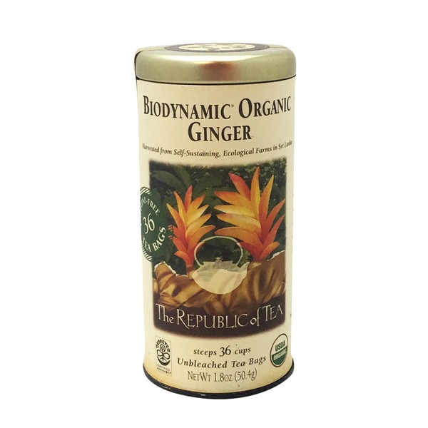 The Republic of Tea Biodyamic Organic Ginger Tea