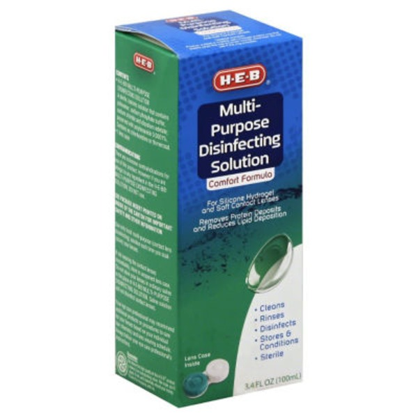 H-E-B Comfort Formula Multi Purpose Disinfecting Contact Lens Solution