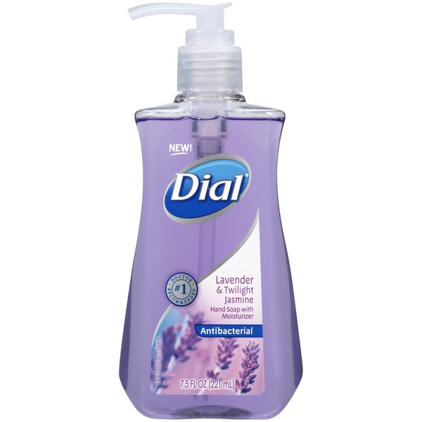Dial Liquid Hand Soap Lavender & Twighlight Jasmine with Moisturizer Antibacterial Hand Soap