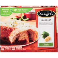 Stouffer's Classics Ketchup glazed meatloaf in a homestyle gravy with Russet mashed potatoes Meatloaf