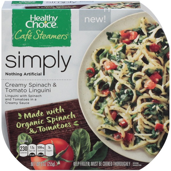 Healthy Choice Cafe Steamers Simply Creamy Spinach & Tomato Linguini