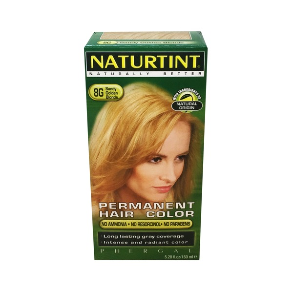Naturtint Permanent Hair Color, Sandy Golden Blonde 8G