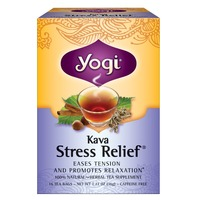 Yogi Kava Stress Relief Herbal Tea, Caffeine Free