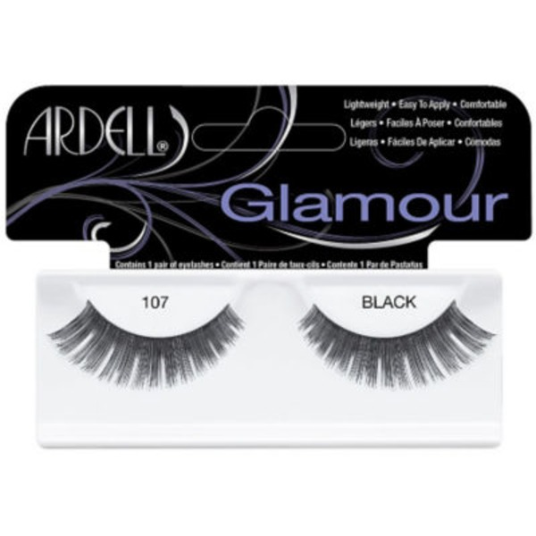 Ardell Glamour Fashion Lashes  - 107 Black (100% Human Hair)