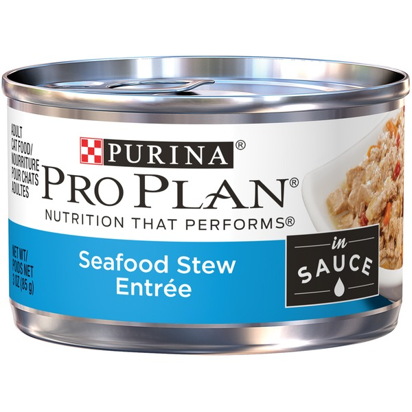 Pro Plan Cat Wet Adult Seafood Stew Entree in Sauce Cat Food