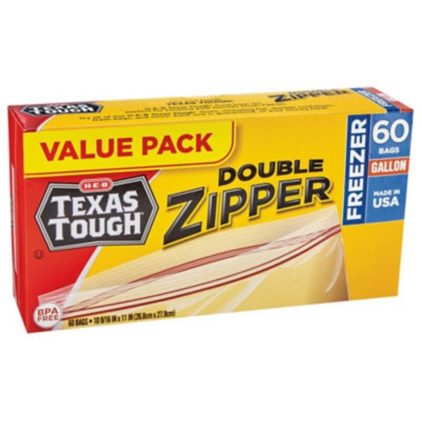 H-E-B Texas Tough Gallon Freezer Bags Value Pack