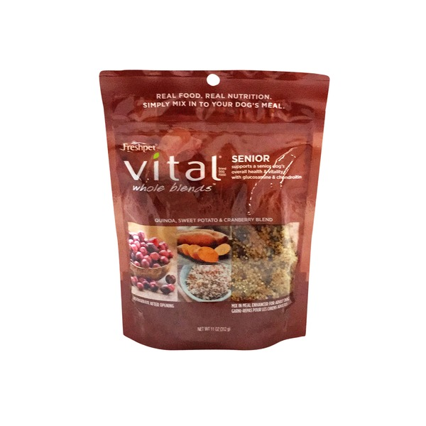 Freshpet Vital Whole Blends Senior Recipe, Mix In Meal Enhancer for Dogs