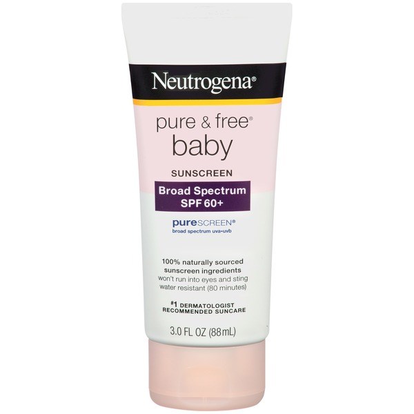 Neutrogena® Pure & Free Baby Sunscreen, Broad Spectrum SPF 60+