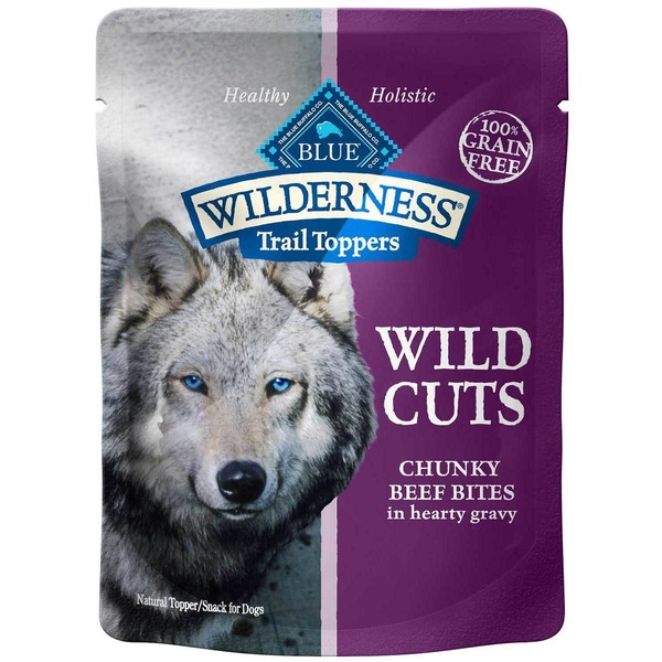 Blue Buffalo Snacks for Dogs, Natural Topper, Wild Cuts, Chunky Beef Bites