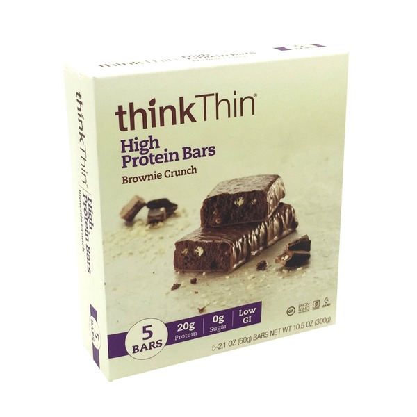thinkThin High Protein Bars Brownie Crunch