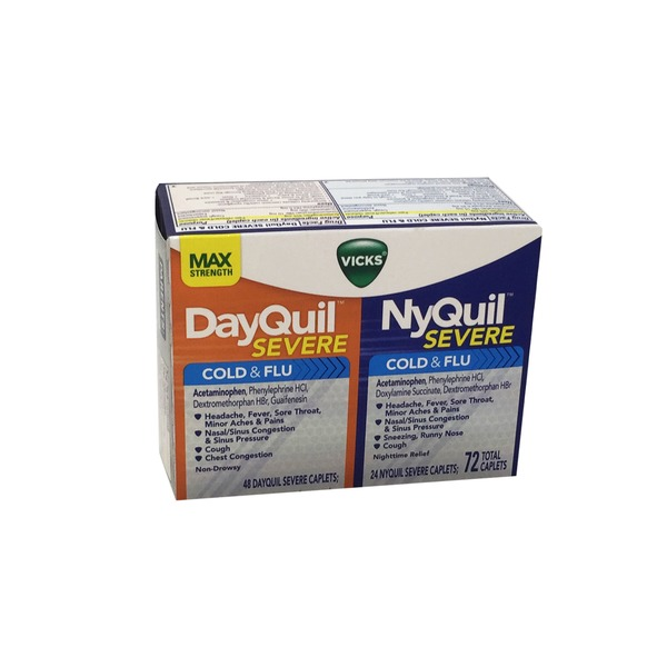 Vick's Dayquil Severe 48 Ct And Nyquil Severe 24 ct