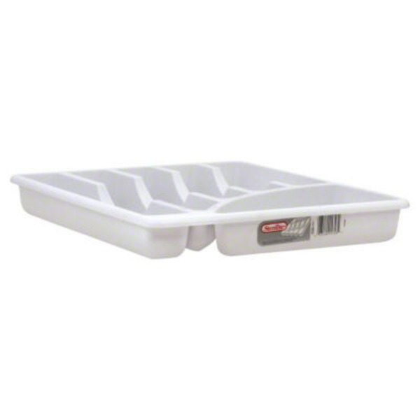 Sterilite Cutlery Tray 6 Compartment White