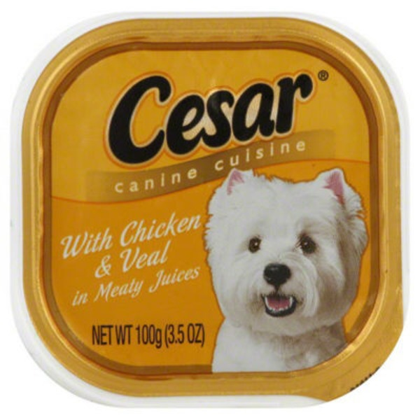 Cesar With Chicken & Veal in Meaty Juices Wet Dog Food