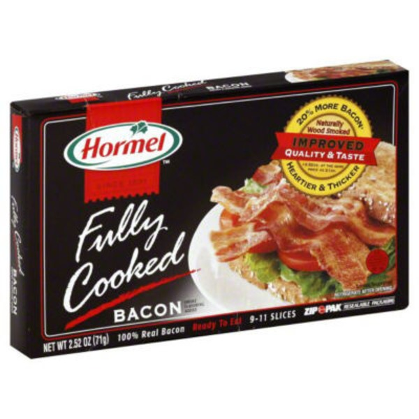Hormel Black Label Fully Cooked Original 100% Real Thick Cut Bacon
