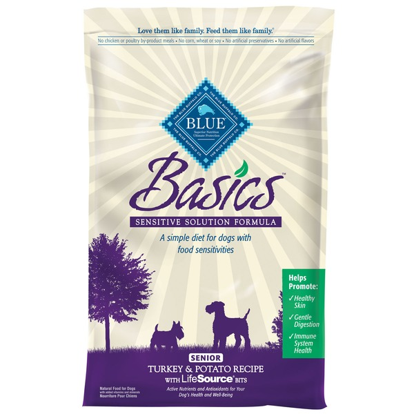 Blue Buffalo Basics Dog Food, Senior Turkey & Potato