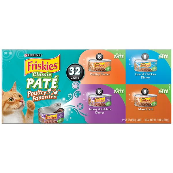 Friskies Classic Pate Poultry Favorites Variety Pack Cat Food