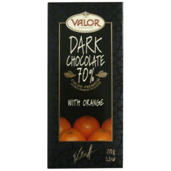 Valor Dark Chocolate, 70% Cocoa, with Orange