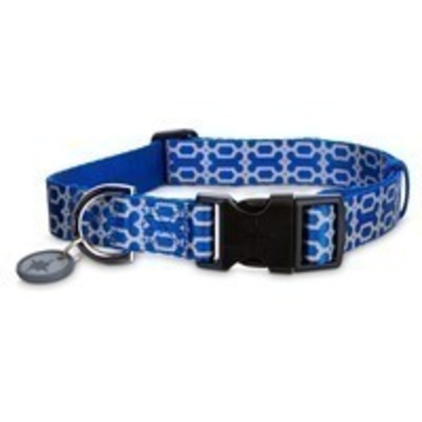 Good2 Go Reflective Blue Bone Dog Comfort Collars Small