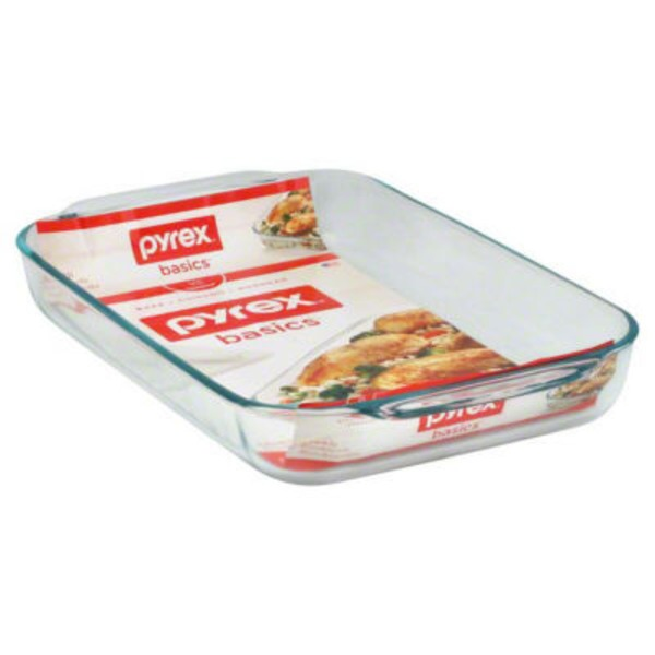 Pyrex Basics Glass Bakeware 4.8 qt