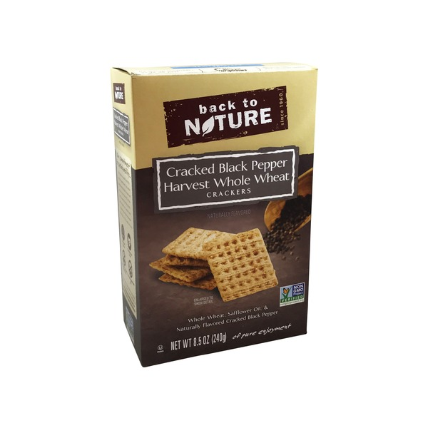 Back to Nature Whole Wheat Black Pepper Crackers