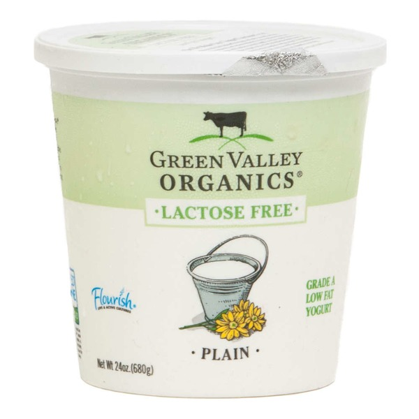 Green Valley Organics Organic Lactose Free Lowfat Plain Yogurt