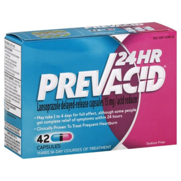 Prevacid24 Hr Lansoprazole Delayed-Released Capsules Acid Reducer