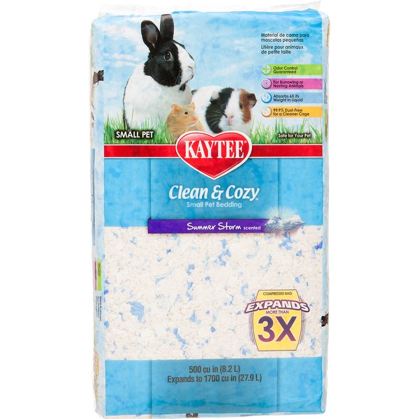 Kaytee Clean & Cozy Summer Storm Scented Small Animal Bedding 500 Cu. In.
