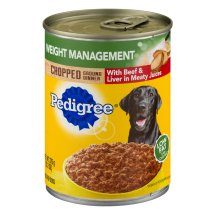 PEDIGREE Chopped Ground Dinner Weight Management With Beef & Liver Wet Dog Food 13.2 oz.