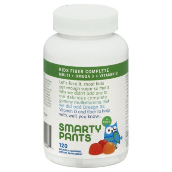 SmartyPants Multivitamin Kids Complete + Fiber Gummies