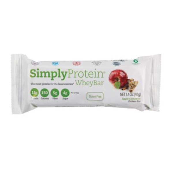 Simply Protein Apple Cinnamon Whey Bar